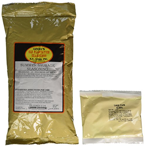 Summer Sausage seasoning for 50 lbs of meat. 2-Packs. Use on Venison, Beef, Elk, Wild Hog & more. INCLUDES the meat cure