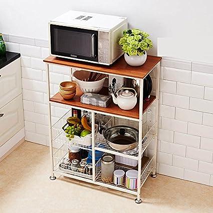 Estante de almacenamiento de cocina, estante de ...