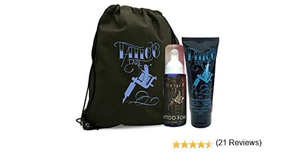 TATTOO KIT XL (POMADA TATTOO CARE PANTHENOL 100g + JABÓN ESPUMA ...