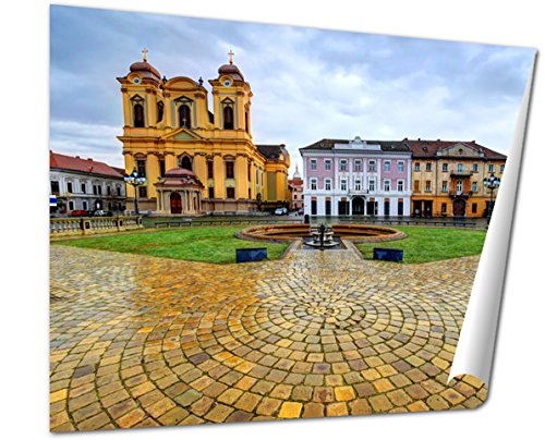 Union Square Print (Ashley Giclee Union Square Timisoara Romania, 24x30 Print)