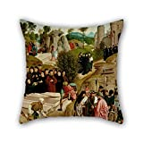 elegancebeauty oil painting Geertgen Tot sint Jans - Legend of the Relics of St. John the Baptist pillowcover 20 x 20 inches / 50 by 50 cm best choice for office,drawing room,adults,relatives,bf,co