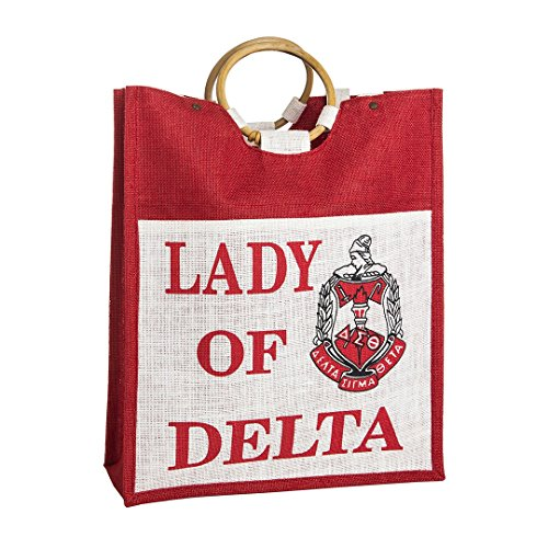 Delta Sigma Theta Mini Jute Bag