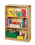 Korners for Kids 249369 Bookcase Furniture, All-Birch Veneer Panel, 4-Coat UV Acrylic, 24-1/8'' x 10'' x 35-15/16'', Natural Wood Tone