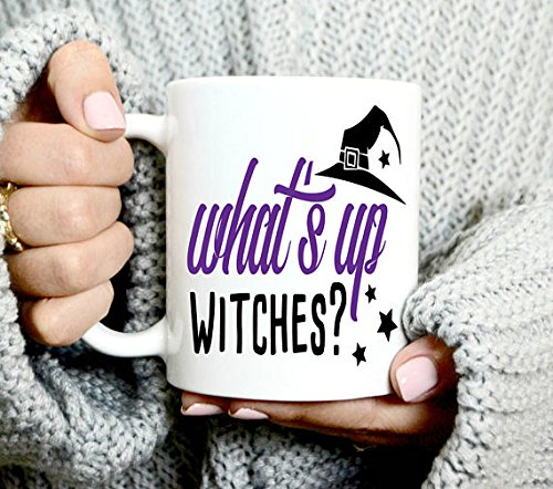What's Up Witches Coffee Mug - Halloween Mug - Witch