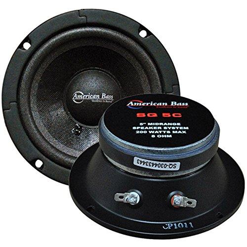 American Bass 5 Inch Midrange Sealed Basket Speaker