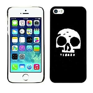 GIFT CHOICE / SmartPhone Carcasa Teléfono móvil Funda de protección Duro Caso Case para iPhone 5 / 5S /Simple Skull/
