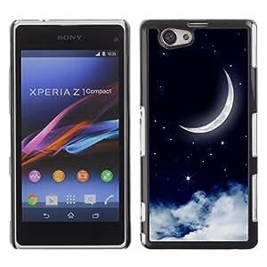 Dragon Case - FOR Xperia Z1 Compact D5503 - The moon rose - Caja protectora de pl??stico duro de la cubierta Dise?¡Ào Slim Fit