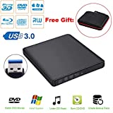 Guamar External Blue-Ray Drive,USB 3.0 Aluminum Blu-Ray Drive CD/DVD Burner/Writer with 3D Blu-ray