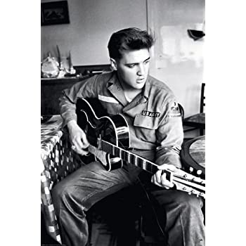amazoncom elvis presley guitar army uniform 24quotx36