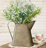 Metal Pitcher Small Flower Vase Vintage for Home Decor Rustic Farmhouse Style