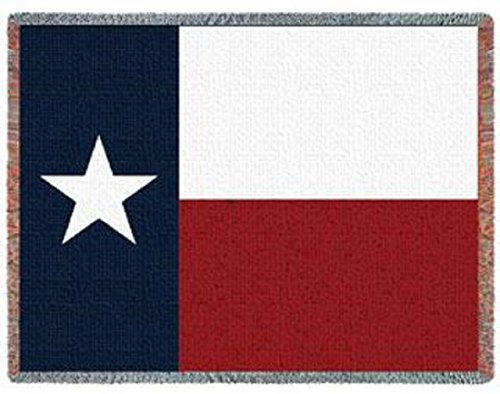- Private Label Texas State Flag Woven Jacquard Throw Blanket Afghan