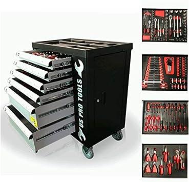 US Pro - Caja de herramientas para 6 cajones con herramientas ...