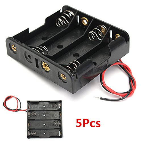 Lights & Lighting - 5pcs 3v 2a 4aa Battery Holder Box Case Storage For Diy - Plastic Battery Case Holder Storage Box For 18650 Lithium 2x18650 Series