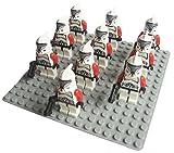 10pcs Minifigure Star Wars Clone Trooper Captain with Weapon Building Block Brick Accessory Minifigs No Original Box