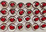 LIPS - Red; Set of 24 Original Hand Painted Glass Gems by Lauri; Party Supplies, Party Favor, Decoration, Token, Memoir, etc.let your imagination run wild!