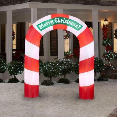 CHRISTMAS DECORATION YARD LAWN GARDEN LIGHTED INFLATABLE ...