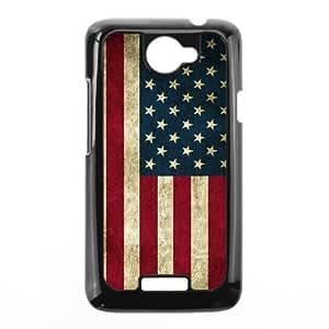 Diy American Retro Flag Phone Case for HTC One X Black Shell Phone [Pattern-1]