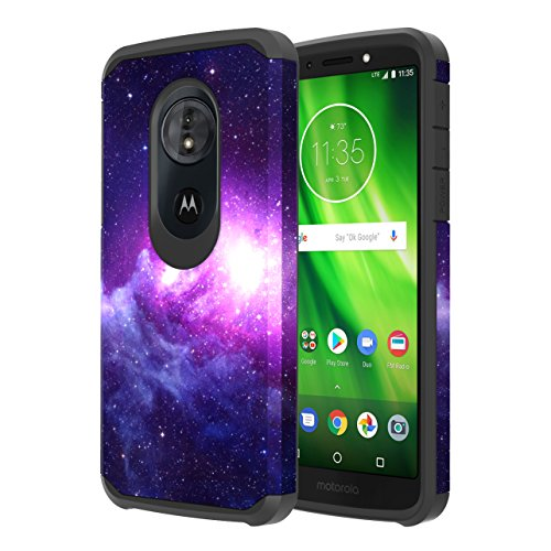 Moto G6 Play Case, Moto G6 Forge Case, Onyxii Hybrid Dual Layer Slim Graphic Armor Shockproof Impact Resistant Protective Cover Case for Motorola Moto G Play 6th Generation (Galaxy Cloud)