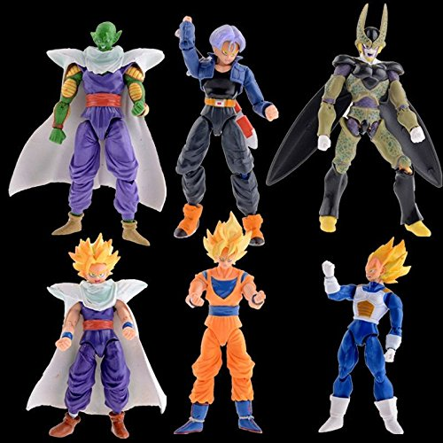 Lot 6 ball Anime Joint movable Action Figure Toy