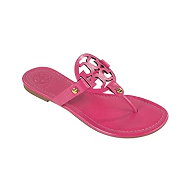 01c10bf41d00 Amazon.com  Tory Burch Miller Flip Flop Leather Thong Sandal Logo (9.5