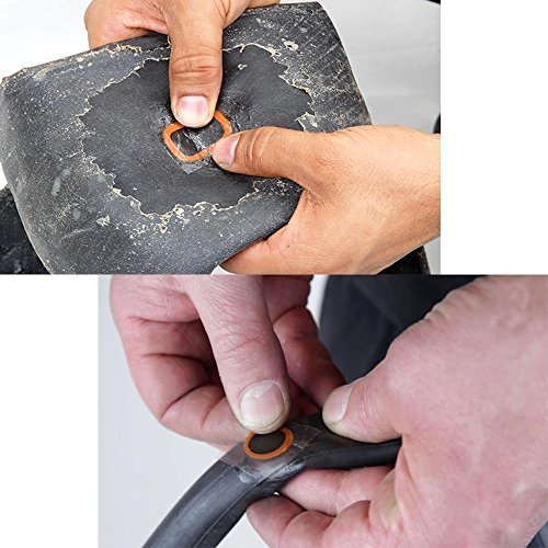 BraveWind 5 Sheet Bicycle Tire Patch Motor Bike Tyre Tire Inner Tube Puncture Rubber Patches Repair Rubbers by BraveWind (Image #5)