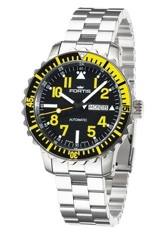 Fortis B42 Marinemaster Day Date 670.24.14M Automatic Mens Watch Solid Case
