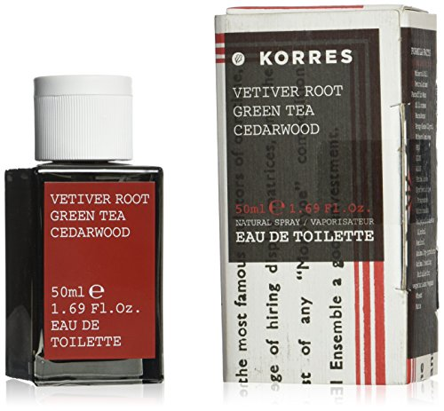 Korres Men Vetiver Root, Green Tea And Cedarwood Eau De Toilette Fragrance - Green Korres