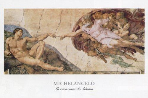 La Crezione Di Adamo by Michaelangelo 32x47 Art Print (Adamo Poster)