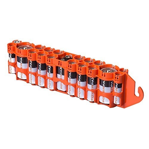 Storacell by Powerpax PBC Original Multi-Pack Battery Caddy, Orange by Storacell