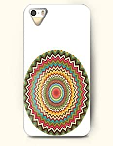 OOFIT Aztec Indian Chevron Zigzag Native American Pattern Hard Case for Apple iPhone 5 5S ( iPhone 5C Excluded ) Pink Chevron Triangle Ethic
