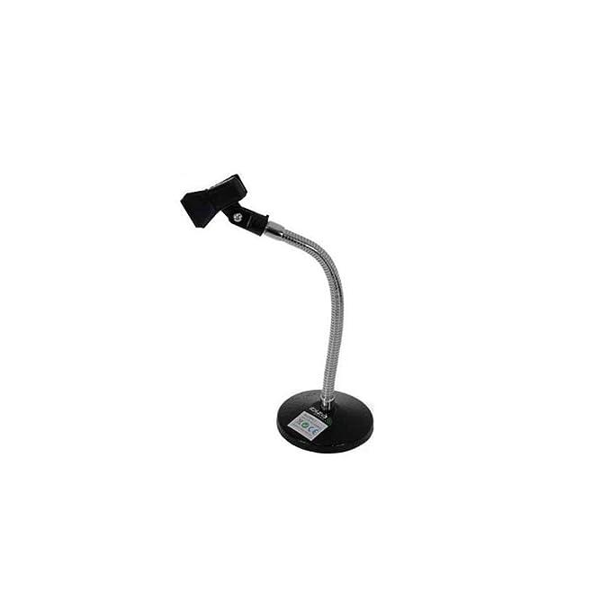 Pie de mesa para micrófono (con soporte de hierro fundido Ibiza ...