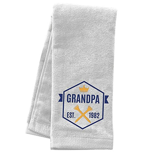 GiftsForYouNow Grandpa Personalized Golf Towel, White