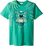 Kenzo Kids Boy's Jungle Design Tee (Big Kids) Menthol 14