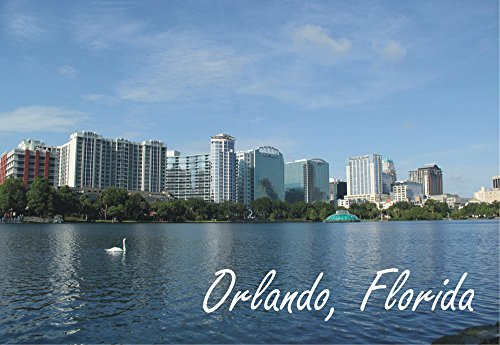 Orlando, Florida, Fountain, City, Skyline, FL, Souvenir, Travel, Locker, Magnet 2 x 3 Fridge - Orlando Airports Fl