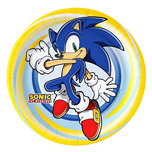 BirthdayExpress Sonic The Hedgehog Party Supplies - Dinner Plates (8) -