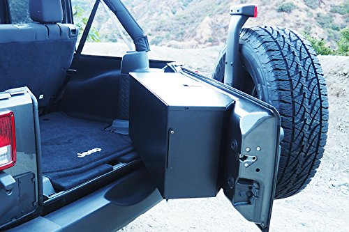 Tailgate Storage Box for 2007-2017 Jeep Wrangler JK without Rear Side Sub Woofer (Cargo Box Tailgate)