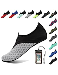 Coolloog Water Shoes Barefoot Quick Dry Aqua Socks Surf for Yoga Beach Swim for Men Women
