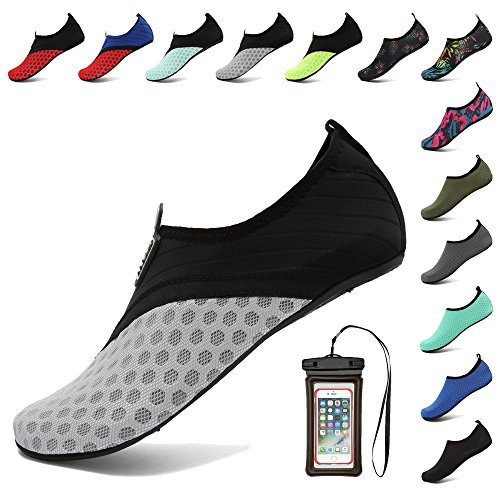 Beach Women Barefoot Shoes Black Coolloog for for Dry Aqua Socks Quick Water Grey Yoga Swim Surf Men Fw4q46v