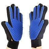 Pet house Grooming Glove Brush Deshedding Glove -Pet Massage Tool (Left Plus Right Hand)