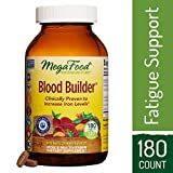 MegaFood - Blood Builder, Support for Healthy Iron Levels, Energy, and Red Blood Cell Production without Nausea or Constipation, Vegan, Gluten-Free, Non-GMO, 180 Tablets (FFP)