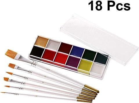 SUPVOX 12 Colors - Juego de pinturas para el cuerpo con caja de ...