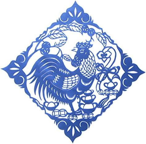 ペーパーカットデザイン30 * 30センチメートル中国の十二宮の柄手作りの装飾