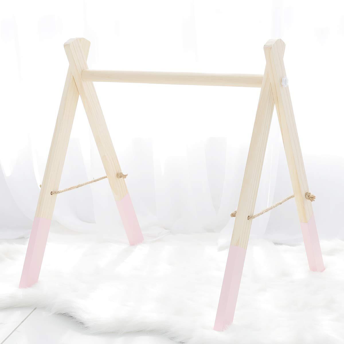 Mamimami Home Jouet en bois pour tout-petits Activité Accessoires de jouets de gymnastique Jouets bébé Montessori Nursery Decor Charms sensoriels Baby Gym With Or Without Gym Toys