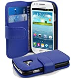 Samsung Galaxy S3 MINI Hülle in BLAU von Cadorabo - Handy-Hülle mit Karten-Fach und Standfunktion für Galaxy S3 MINI Case Cover Schutz-hülle Etui Tasche Book Klapp Style in KÖNIGS-BLAU