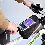 Fun n Shop Bike Bicycle Front Frame Top Tube Bag with Touch Screen Pocket for 5.5'' Mobile Phones