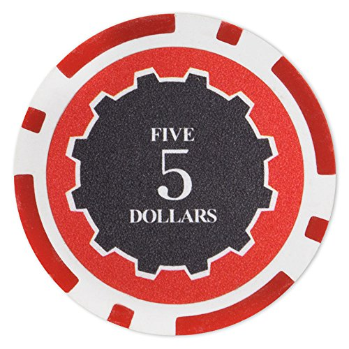 Brybelly Eclipse Poker Chips Heavyweight 14-gram Clay Composite - Pack of 50 ($5 Red)