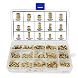 OCR M2 M3 M4 M5 Female Thread Knurled Nuts Brass Threaded Insert Embedment Nuts Assortment Kit 330PCS