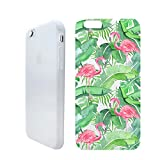 3d jelly cases for galaxy s5 - Tropical Leaves Flamingo Summer Beach Holiday Rubber Jelly Matt White Plastic Phone Case for Iphone_ SUPERTRAMPshop (VAS1377, iphone 7/8 PLUS)