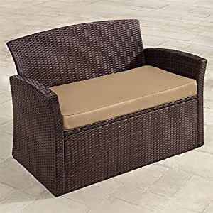 Brylanehome Resin Wicker Loveseat Brown 0 Garden Outdoor
