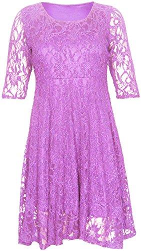 Chocolat Blumenspitze 42–56 Robe Violet ¾ Doublé Femmes arm Oversize Pickle Vélo Délivré Lilas Nouveau ® SdwSpq